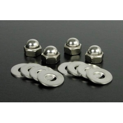 Shockabsorber capnuts set for Honda Dax chrome by Takegawa