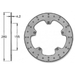 Brake disk front Aprilia RS before 98 - 6 bolts